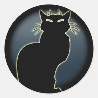 Amante do gato das etiquetas do gato do Dia das Adesivo Em Formato Redondo