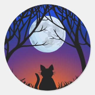 Amante do gato das etiquetas do gato do Dia das Adesivo Redondo