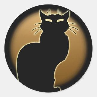 Amante do gato das etiquetas do gato do Dia das Adesivos Em Formato Redondos