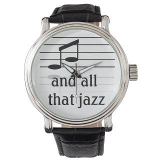 Amante do jazz - o relógio de pulso dos homens