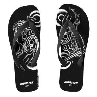 Amante do monstro - sandálias largas pretas das