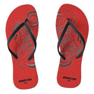Amante do monstro - sandálias magros vermelhas