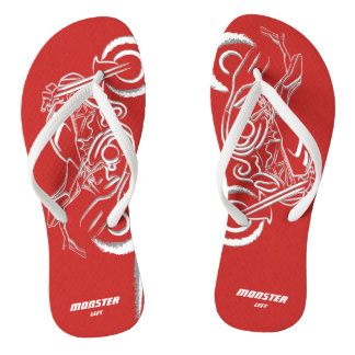 Amante do monstro - sandálias magros vermelhas das