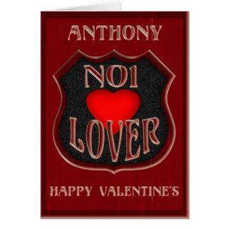 Amante do No1 de Anthony, feliz dia dos namorados Cartão Comemorativo