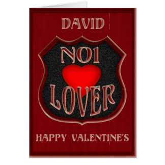 Amante do No1 de David, feliz dia dos namorados Cartão Comemorativo