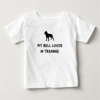Amante do pitbull camiseta para bebê