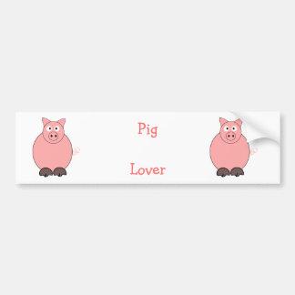 Amante do porco adesivos