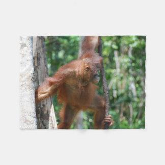 Amante dos animais do orangotango cobertor de lã