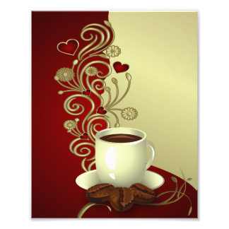 Amante moderno do café impressão de foto