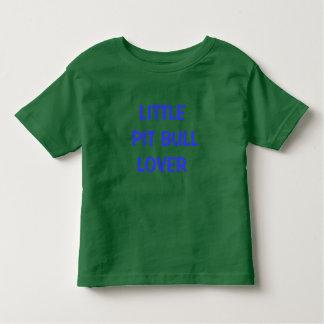 Amante pequeno do pitbull camiseta infantil
