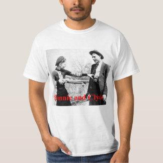 Amantes cruzados estrela Bonnie e de Clyde ou que Camiseta