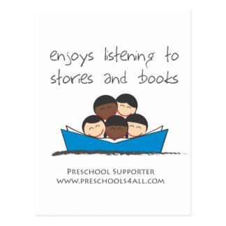 Amantes de livro - grupo cartão postal