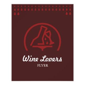 Amantes de vinho flyer 11.43 x 14.22cm