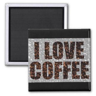 Amantes do café ímã quadrado