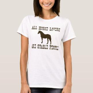 Amantes do cavalo camiseta