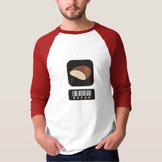 Amantes do pão 3/4 de camisa do Raglan da luva