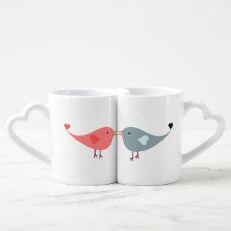 Amantes do pássaro que combinam grupos da caneca