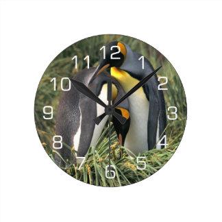 Amantes do rei pinguim relógios de pendurar