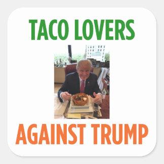 Amantes do Taco contra a etiqueta do trunfo