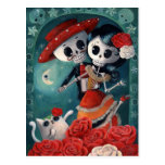Amantes mexicanos de esqueleto inoperantes cartões postais