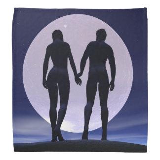 Amantes novos em a noite - 3D rendem Bandana