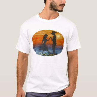 Amantes ocidentais do por do sol camiseta