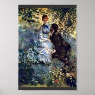 Amantes, por Pierre-Auguste Renoir (a melhor quali Posters