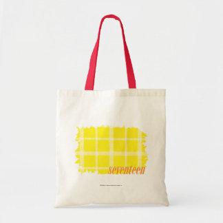 Amarelo 3 da xadrez bolsa para compras