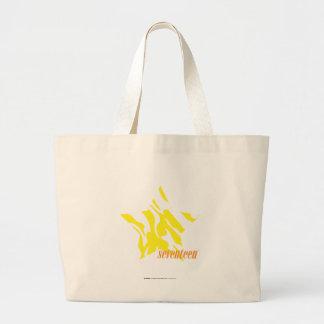 Amarelo 3 da zebra bolsas para compras