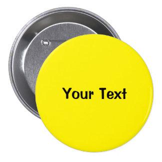 """Amarelo 3"""" modelo feito sob encomenda do botão do  bóton redondo 7.62cm"""