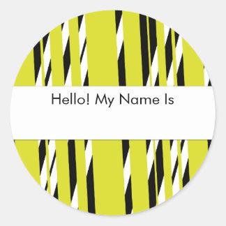 Amarelo à moda folha descascada da etiqueta