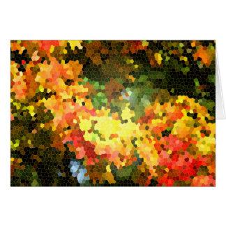 Amarelo alaranjado das folhas de bordo do outono d cartão comemorativo