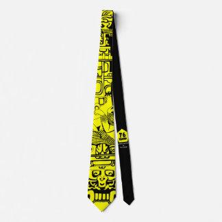 Amarelo antigo do astronauta gravata