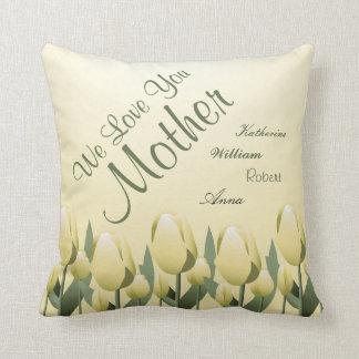 Amarelo assinado mamã do amor das tulipas do