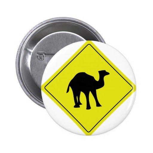 amarelo australiano do roadsign do camelo boton