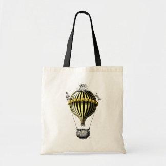 Amarelo barroco do preto do balão sacola tote budget