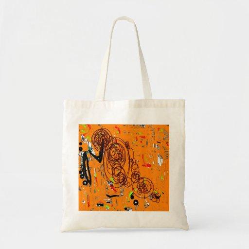 amarelo bolsas de lona