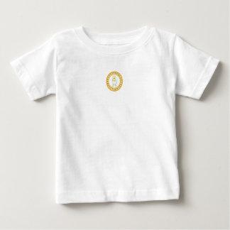 Amarelo branco da camisa do jérsei do T do bebê