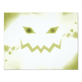 Amarelo branco da cara assustador da lanterna de convite personalizado