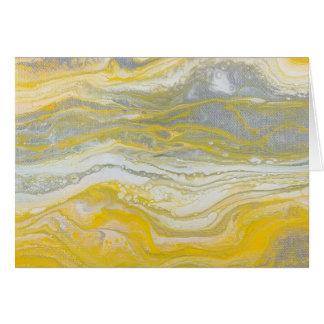 Amarelo & cartões de nota abstratos da prata