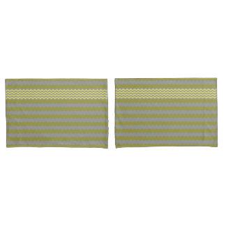 Amarelo - Chevron cinzento - caixa do travesseiro