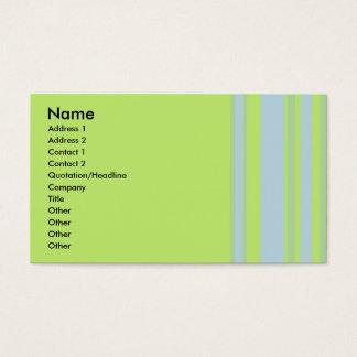 amarelo cinzento verde listrado cartão de visitas