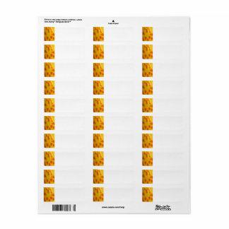Amarelo com etiqueta de endereço do remetente dos