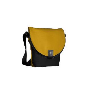 Amarelo contínuo/ouro do açafrão bolsas mensageiro