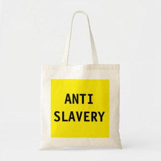 Amarelo da escravidão do saco anti sacola tote budget