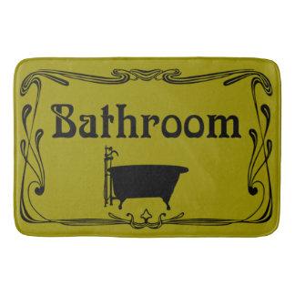 Amarelo da mostarda da cuba do vintage do banheiro tapete de banheiro