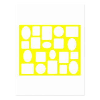 Amarelo da paisagem da moldura para retrato o cartão postal