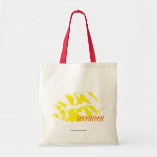 Amarelo da zebra bolsa para compra