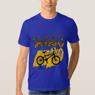 Amarelo de BMX T-shirts