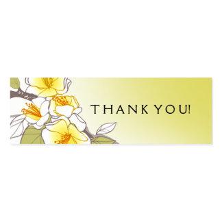 Amarelo de florescência do Tag do presente das Cartão De Visita Skinny